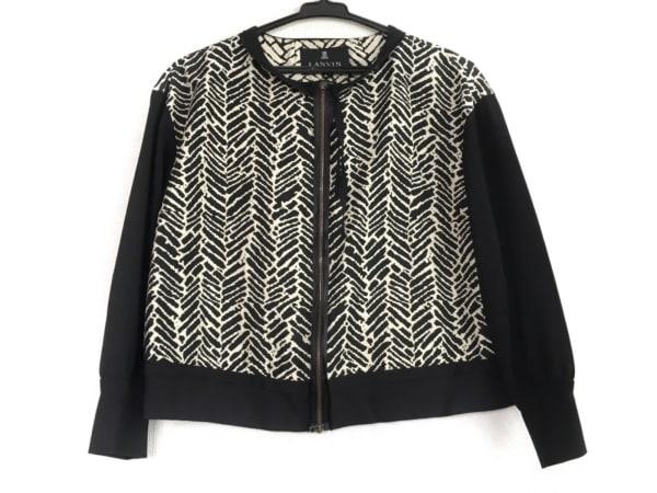 ランバンコレクション ジャケット サイズ40 M レディース美品  黒×白 春・秋物
