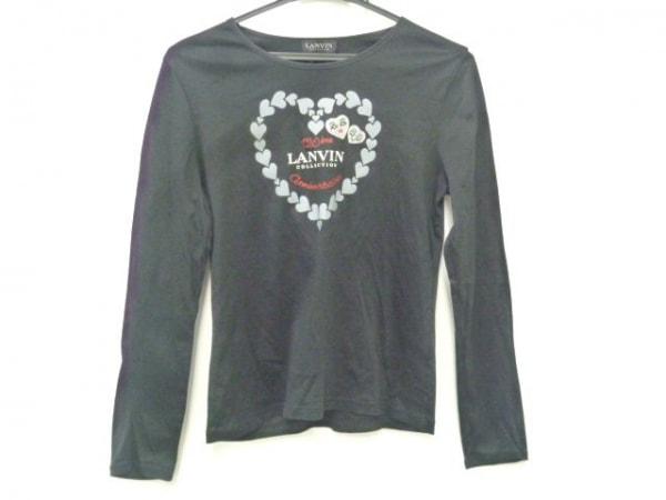 ランバンコレクション 長袖Tシャツ サイズ40 M レディース 黒×グレー×レッド ハート