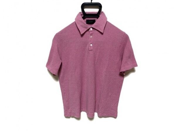 ZANONE(ザノーネ) 半袖ポロシャツ サイズ48 XL メンズ ピンク ボーダー