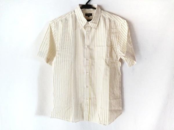 ポールスミス 半袖シャツ サイズL メンズ美品  白×イエロー×ダークブラウン