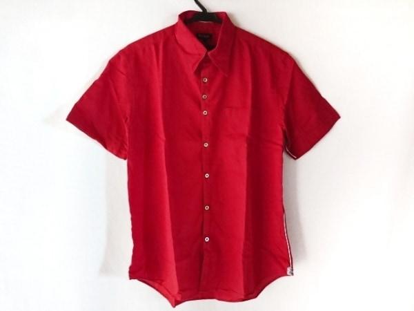 PaulSmith(ポールスミス) 半袖シャツ サイズL メンズ レッド×白×黒