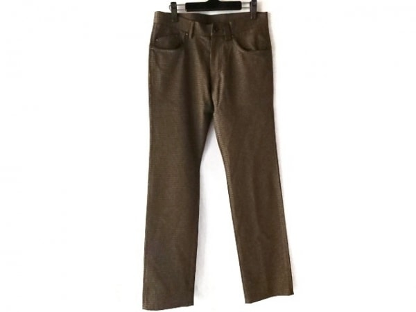 ポールスミス パンツ サイズM メンズ美品  ライトブラウン×カーキ×ダークブラウン