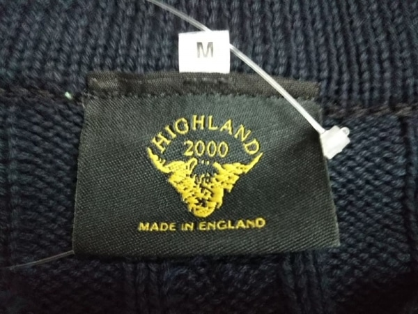 ハイランド 2000 長袖セーター サイズM メンズ ダークネイビー×ボルドー×白