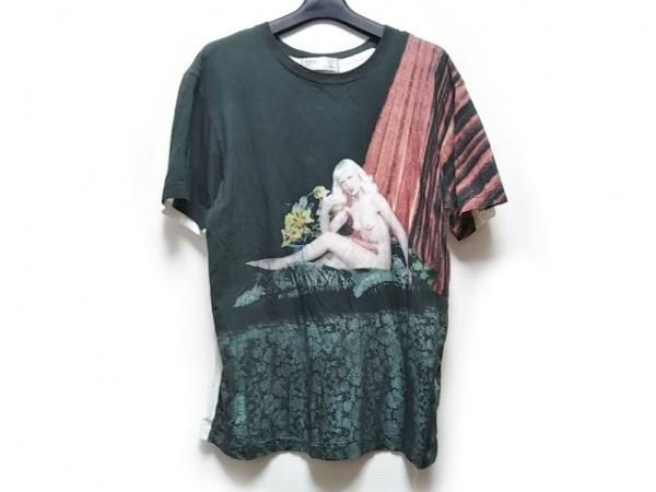 TOGA(トーガ) 半袖Tシャツ サイズ46 XL メンズ ダークグリーン×ベージュ×マルチ