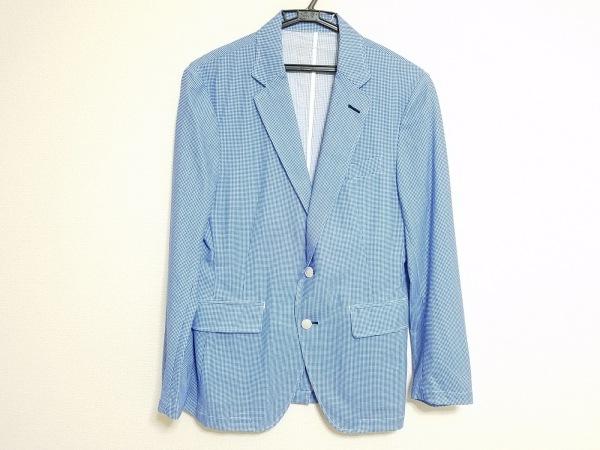 CALLAWAY(キャロウェイ) ジャケット サイズM メンズ 白×ブルー チェック柄