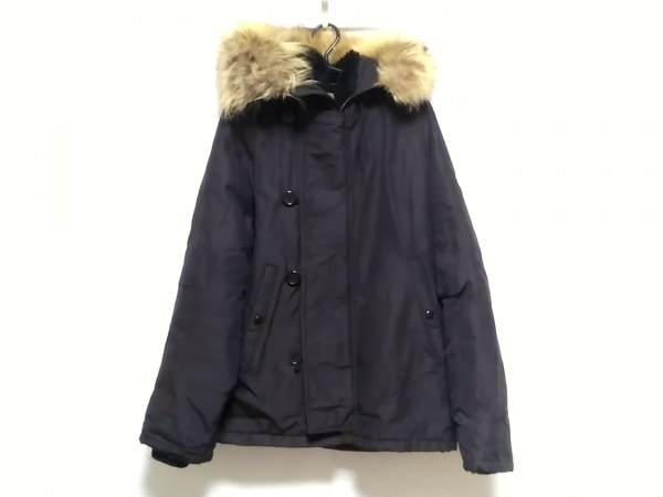 ゴールデンフリース ダウンジャケット サイズ38 M メンズ ダークグレー 冬物/ファー