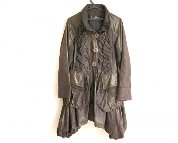 エイココンドウ コート サイズ42 L レディース ダークブラウン 冬物/バルーン裾