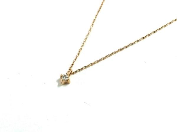 ete(エテ) ネックレス美品  K10×ラインストーン クリア
