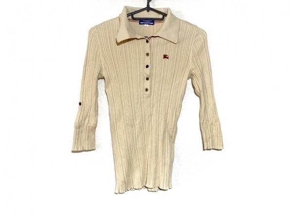 バーバリーブルーレーベル 長袖ポロシャツ サイズ38 M レディース ベージュ