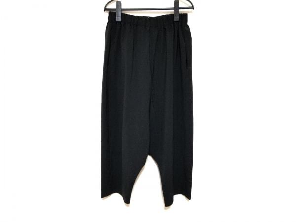 ミズイロインド パンツ サイズ2 M レディース 黒 サルエルパンツ/ウエストゴム