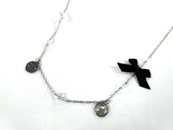クリスチャンディオール ネックレス美品  金属素材×ラインストーン×フェイクパール