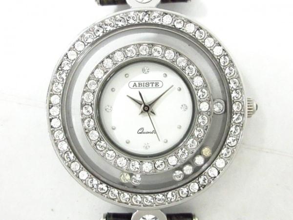 ABISTE(アビステ) 腕時計 - レディース ラインストーンベゼル 白