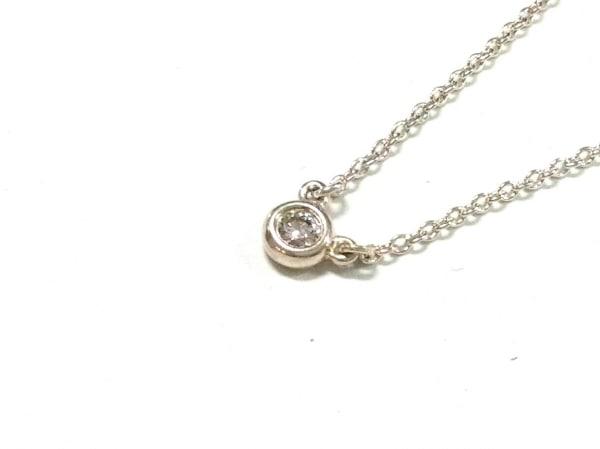 ティファニー ネックレス美品  バイザヤード シルバー×ダイヤモンド 1Pダイヤ