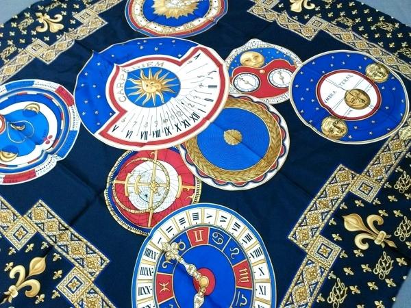 GIANFRANCO LOTTI(ジャンフランコロッティ) スカーフ美品  ダークネイビー×マルチ