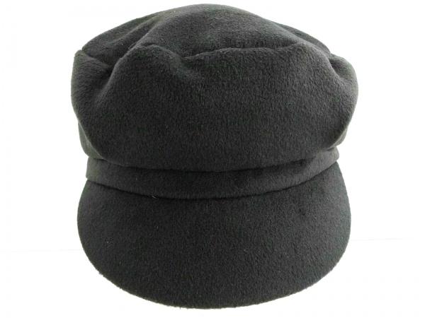 Le Vernis(ルヴェルニ) 帽子 ダークグレー テンセル×レーヨン