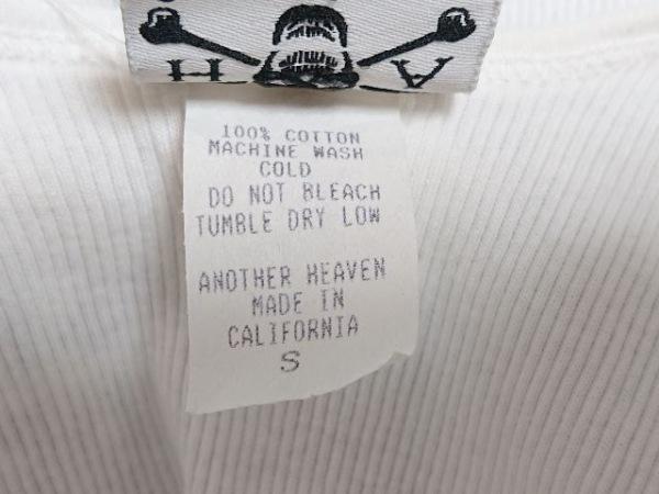 アナザーヘブン タンクトップ サイズS メンズ 白×黒×グレー スカル柄