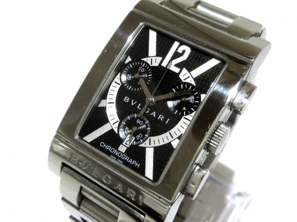 BVLGARI(ブルガリ) 腕時計 レッタンゴロ クロノグラフ RTC49S メンズ クロノグラフ