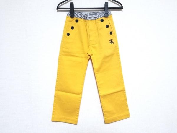 ミキハウス パンツ サイズ120 ユニセックス オレンジ×マルチ 子供服120/刺繍