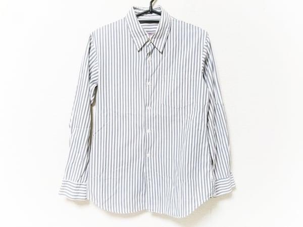 UNDER COVER(アンダーカバー) 長袖シャツ メンズ 白×グレー ストライプ