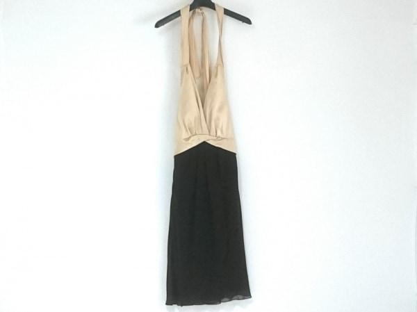セラヴィ ドレス サイズ9 M レディース美品  黒×ゴールド ホルターネック