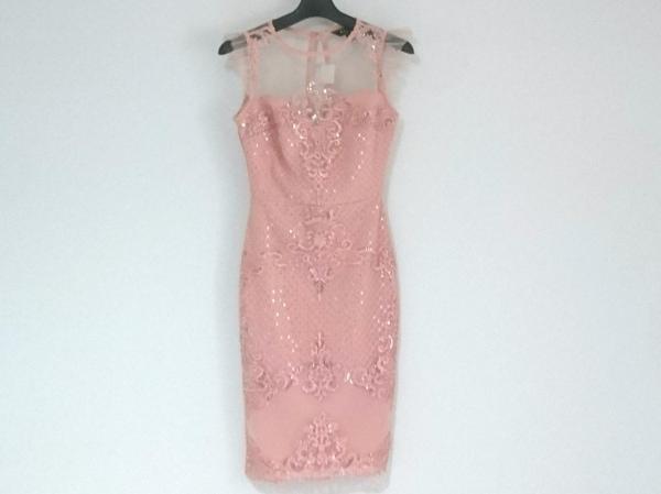 LIPSY(リプシー) ドレス サイズUK 6 レディース ピンク レース/スパンコール