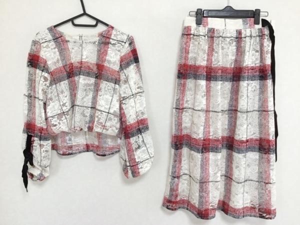 リリーブラウン スカートセットアップ サイズF レディース 白×レッド×黒