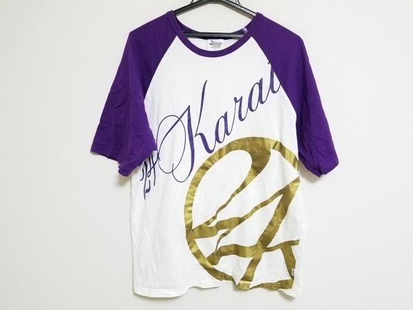 24カラッツステイゴールド 半袖Tシャツ サイズXL メンズ 白×パープル×ゴールド