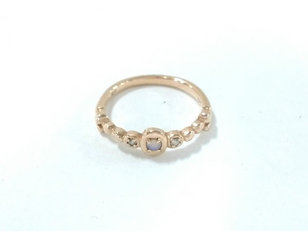 agete(アガット) リング美品  K10×ダイヤモンド 0.02カラット