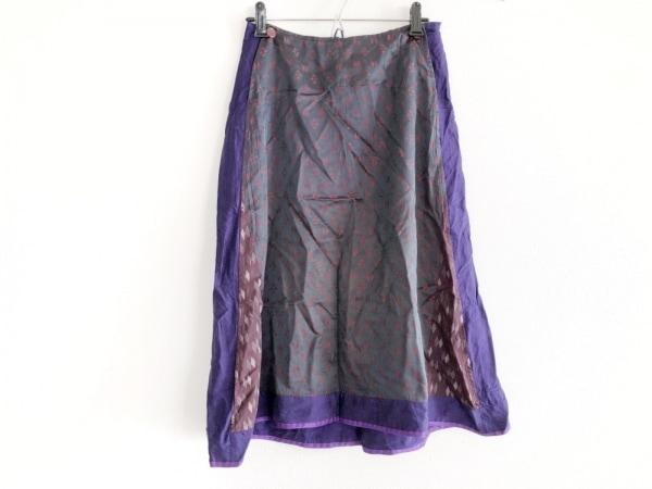 キャシーヴィダレンク スカート サイズ36 S レディース パープル×黒×レッド