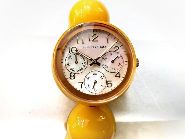 ツモリチサト 腕時計美品  - レディース シェル文字盤/クロノグラフ 白