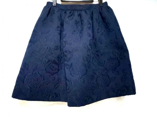 BLUGiRL(ブルーガール) スカート サイズ42(I) M レディース美品  ネイビー 花柄