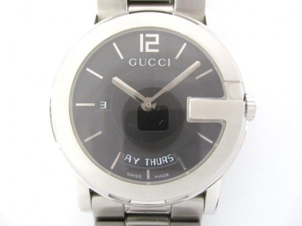 GUCCI(グッチ) 腕時計美品  Gラウンド デイデイト 101M メンズ 黒