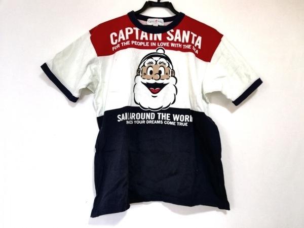 キャプテンサンタ 半袖Tシャツ サイズL メンズ美品  ダークネイビー×白×マルチ