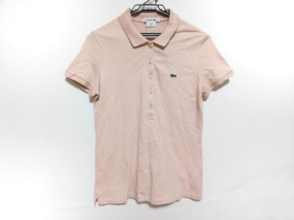 Lacoste(ラコステ) 半袖ポロシャツ サイズ38 M レディース美品  ベージュ