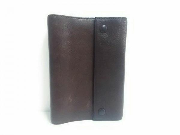 土屋鞄製造所(ツチヤカバンセイゾウショ) 手帳美品  ダークブラウン レザー