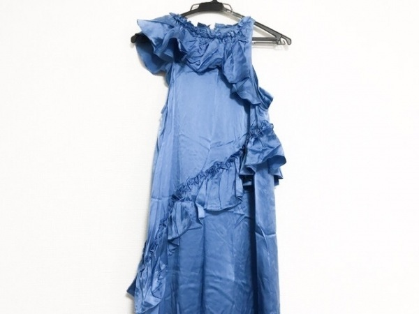 トーマスワイルド ドレス サイズM レディース美品  ブルー アシンメトリー