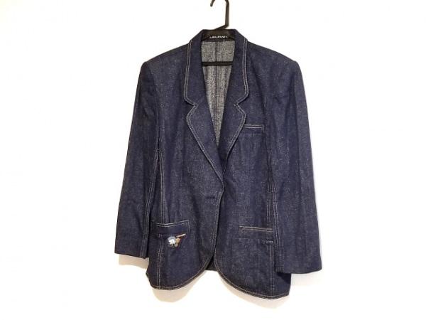 LEONARD(レオナール) ジャケット サイズ15 L レディース ネイビー×ベージュ デニム