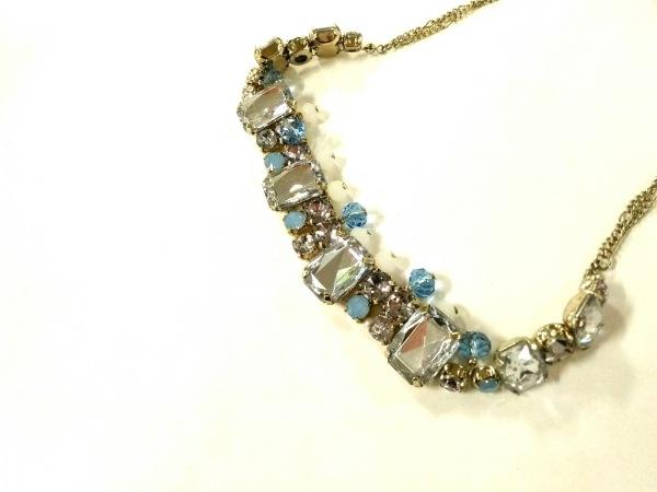 アプワイザーリッシェ ネックレス美品  金属素材×ビジュー ビジュー