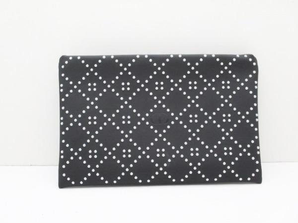 ディオールビューティー ポーチ美品  - 黒×シルバー スタッズ PVC(塩化ビニール)