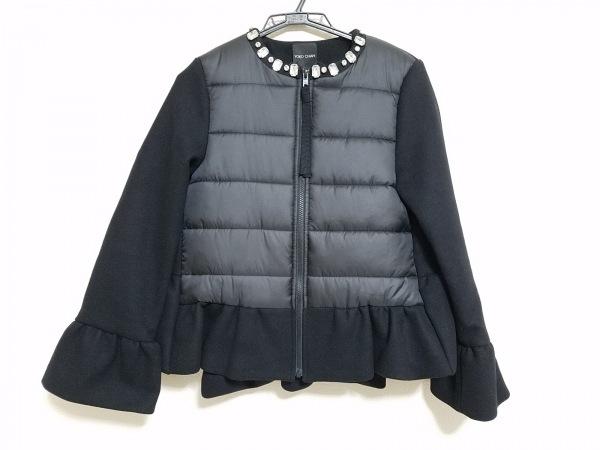 ヨーコ チャン コート サイズ36 S レディース美品  黒 ショート丈/ダウン/ビジュー