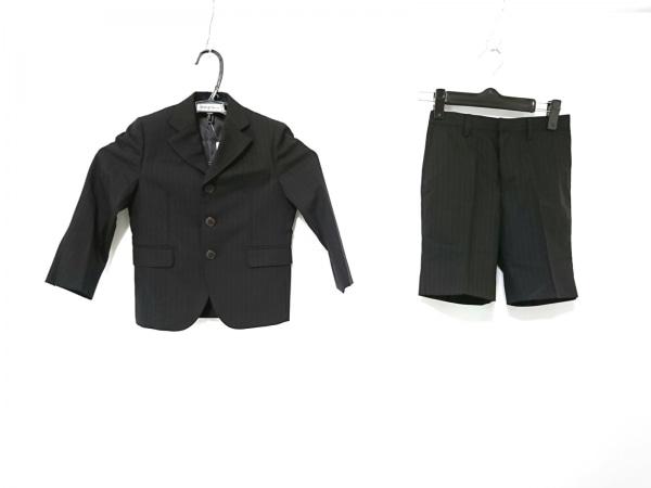 miki HOUSE(ミキハウス) シングルスーツ サイズ110 メンズ 黒 ストライプ/子供服