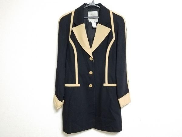 トマソステファネリ コート サイズ46 XL レディース 黒×白 春・秋物