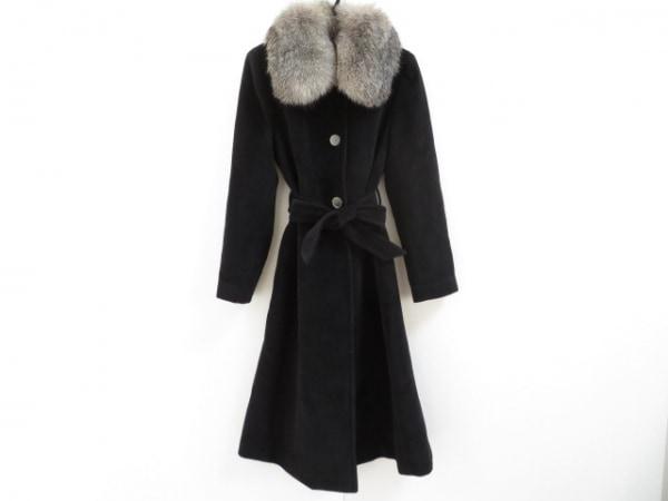 ケント&カーウェン コート サイズ3 L レディース美品  黒×アイボリー ファー/冬物