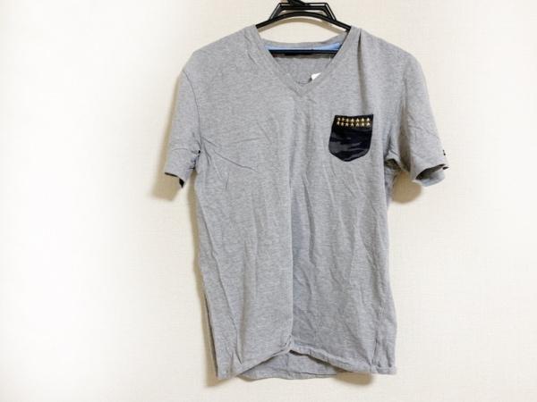 ギルドプライム 半袖カットソー サイズ3 L メンズ美品  グレー×黒×マルチ