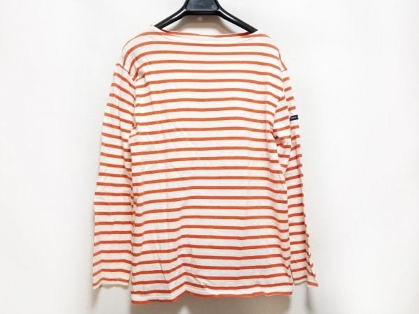 セントジェームス 長袖Tシャツ サイズ38USA レディース 白×レッド ボーダー