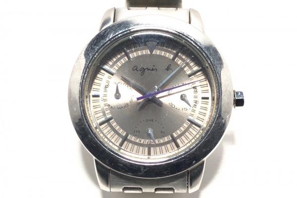 agnes b(アニエスベー) 腕時計 V33J-0AL0 レディース シルバー