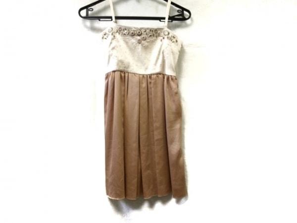 レストローズ ドレス サイズ2 M レディース ブラウン×アイボリー×ピンク