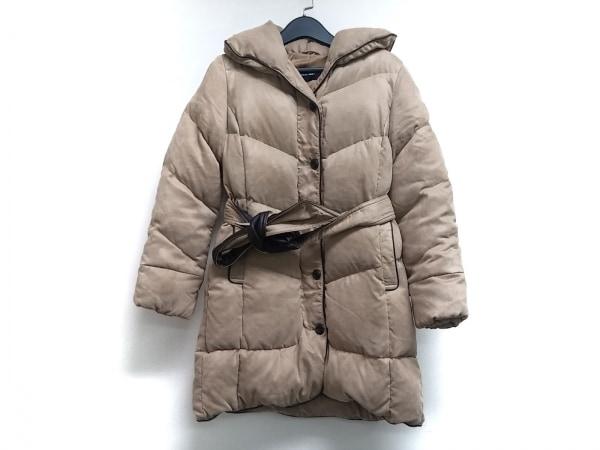メイソングレイ ダウンコート サイズ2 M レディース ベージュ×ダークブラウン 冬物