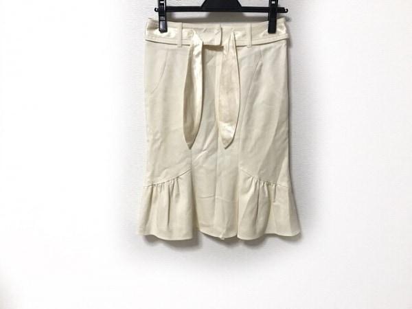 MATERIA(マテリア) スカート サイズ36 S レディース アイボリー リボン