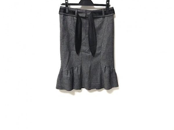 MATERIA(マテリア) スカート サイズ38 M レディース新品同様  ダークグレー リボン